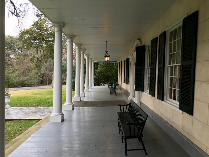 The Linden Bed and Breakfast Natchez Mississippi Porch