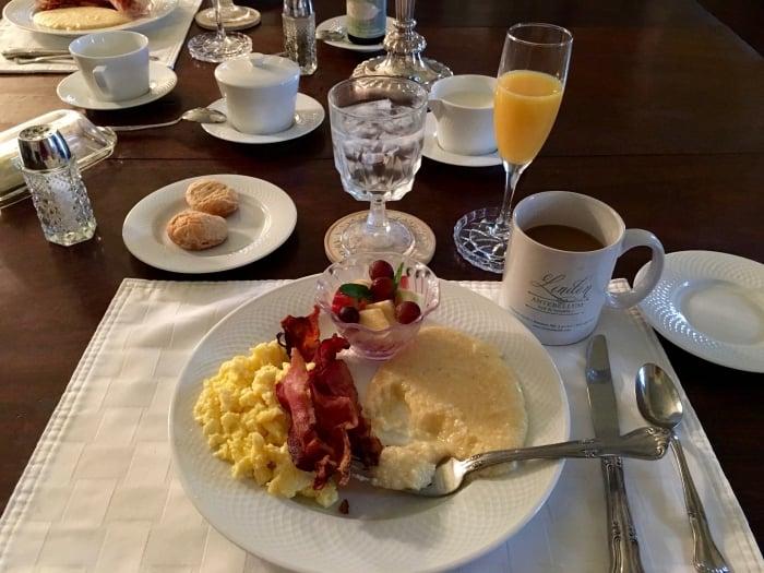 The Linden Bed and Breakfast Natchez Mississippi Breakfast
