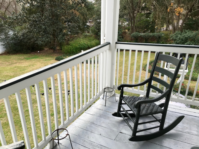 The Linden Bed and Breakfast Natchez Mississippi Upstairs Porch
