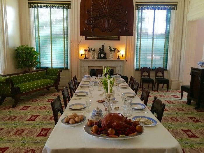 Melrose NPS Natchez Mississippi Dining Room