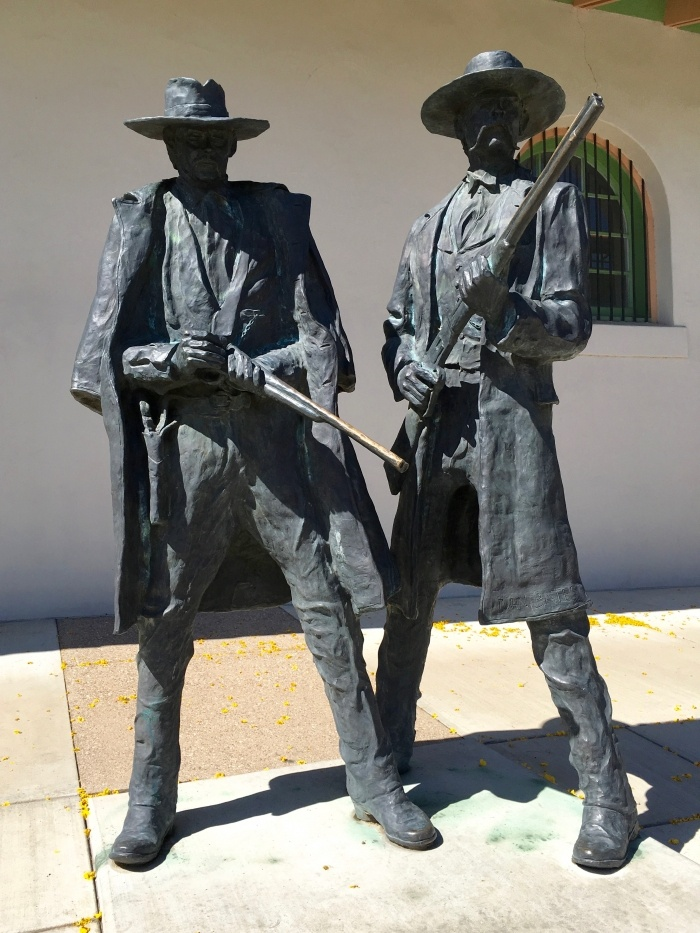 Statue Wyatt Earp Doc Holliday Tucson Arizona