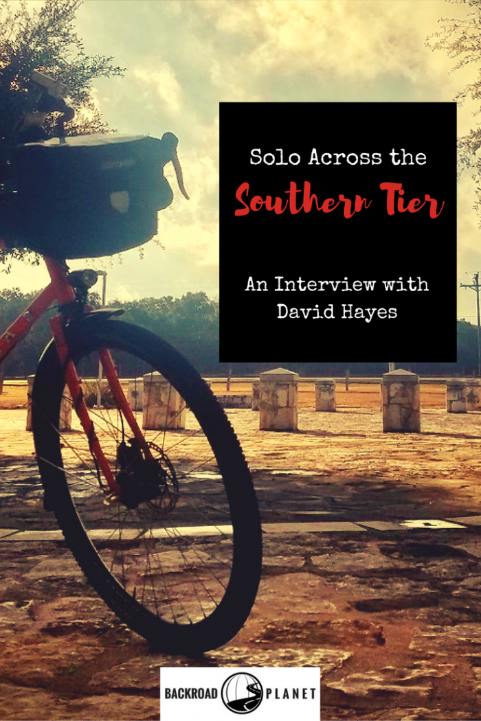 Ever wanted to quit your job, hit the road, and never look back? In our interview, David Hayes leaves it all behind on a cross-country solo bike ride.