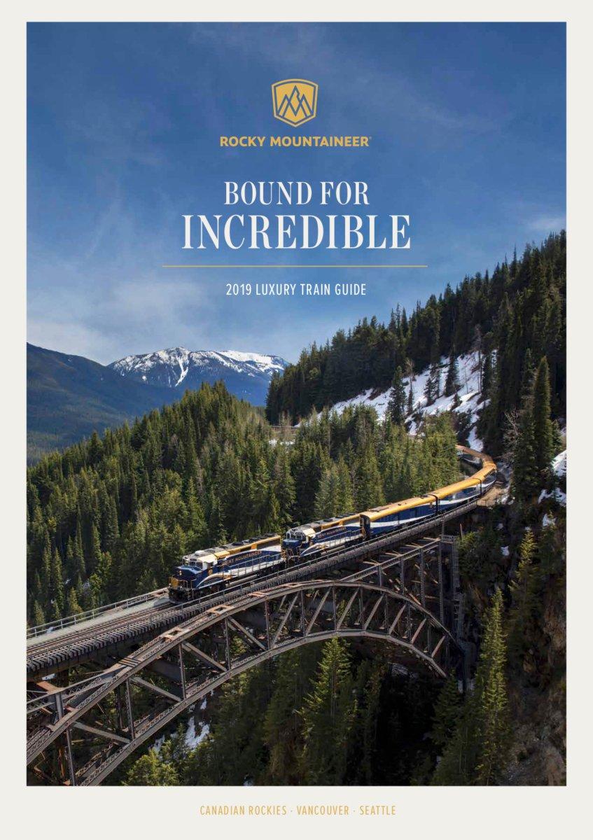 2019 Rocky Mountaineer Train Brochure