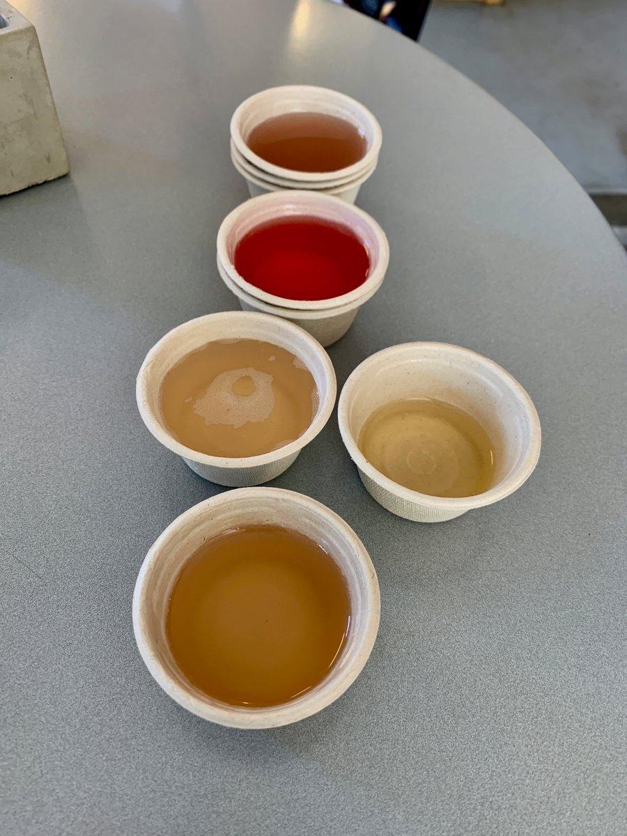 Blue Ridge Bucha tasting cups