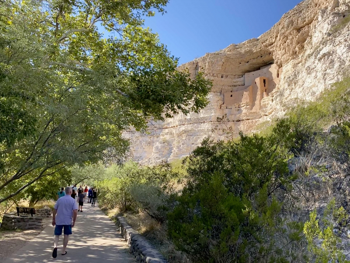 Montezuma Castle in the distance - Things to Do on a Drive from Phoenix to Flagstaff, Arizona