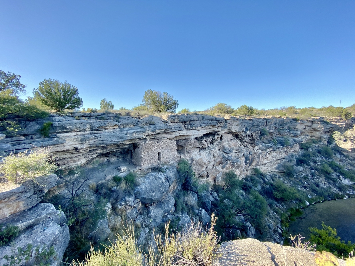 Montezuma Well cliff dwellings - Things to Do on a Drive from Phoenix to Flagstaff, Arizona