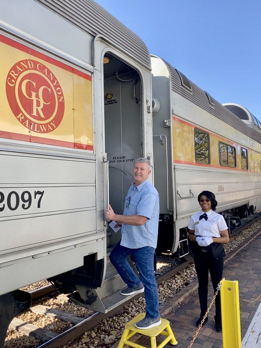 Boarding Grand Canyon Railway