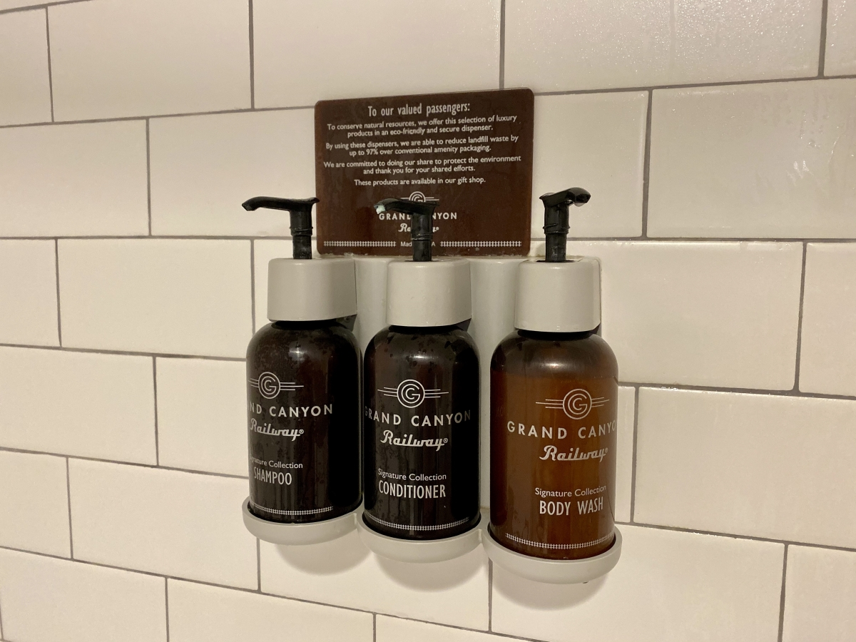 Grand Canyon Railway Hotel toiletries